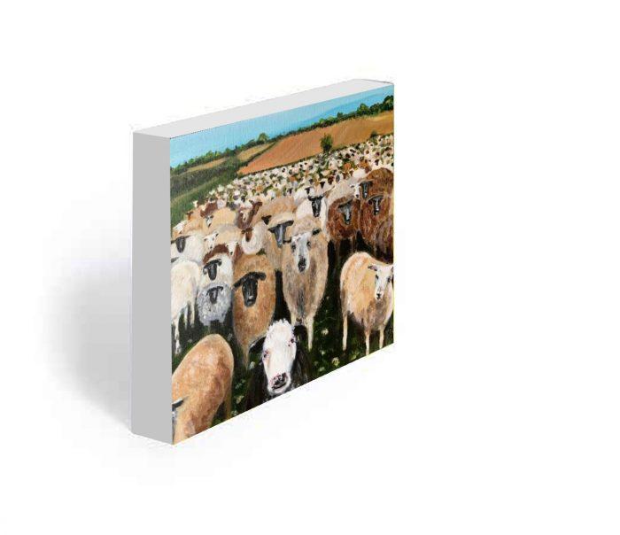 FARS sheep painting on block