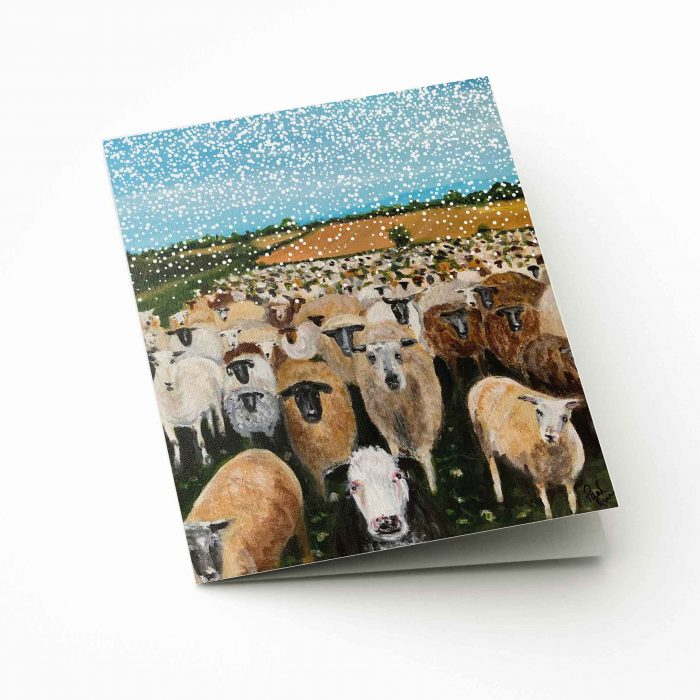 FARS Sheep in the field Christmas Card